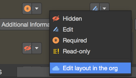 Edit layout in the org
