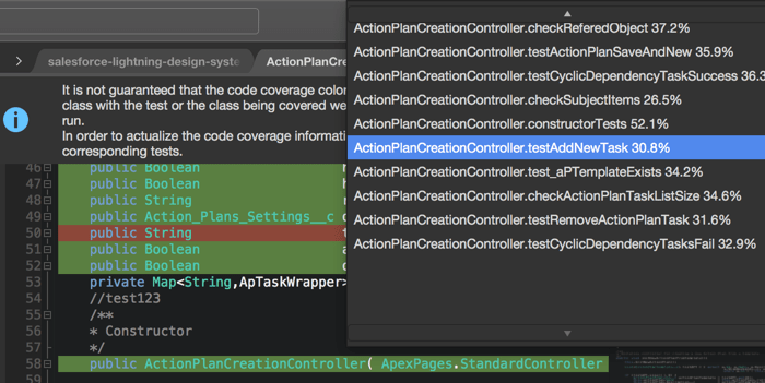 Coloring Code Coverage in the Editor