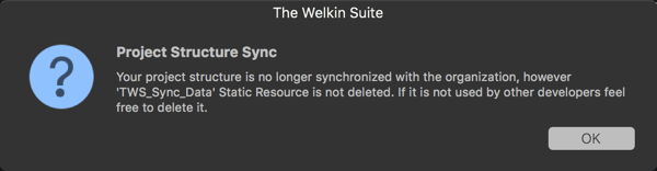 Sync disabled window
