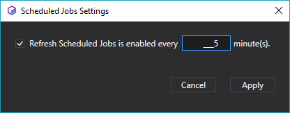 Settings for the Scheduled jobs