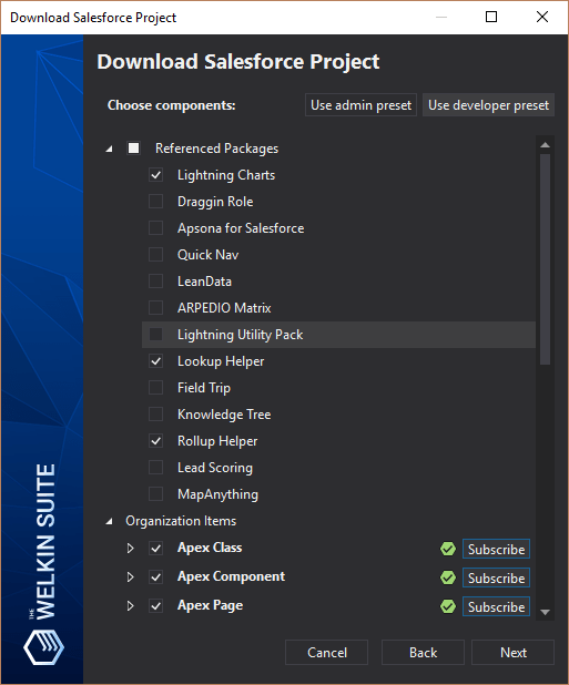 Download project components