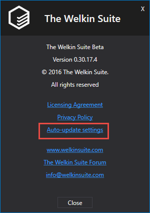 Open the auto-update settings
