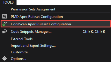 Open the Ruleset Configurator from the Main Menu
