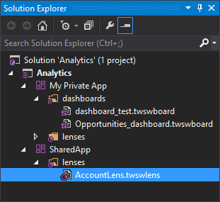 Wave Components in the Solution Explorer